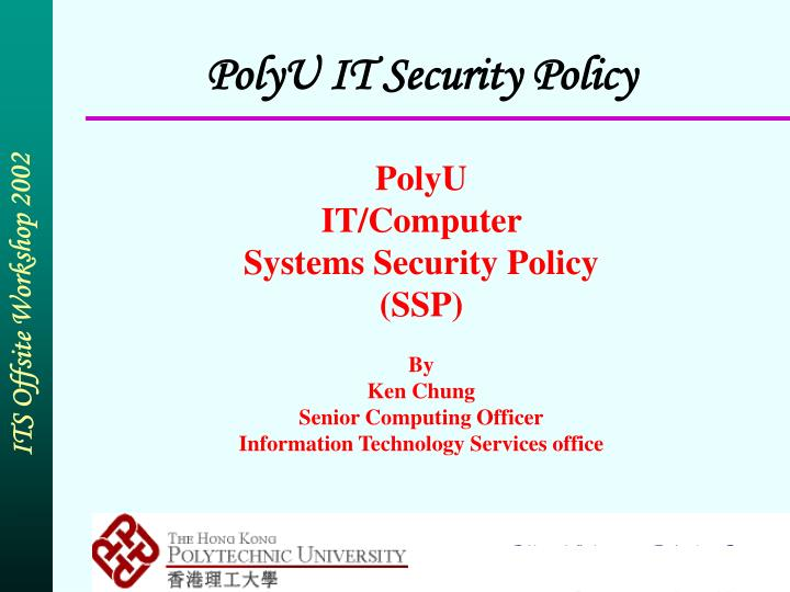 Polyu it security policy