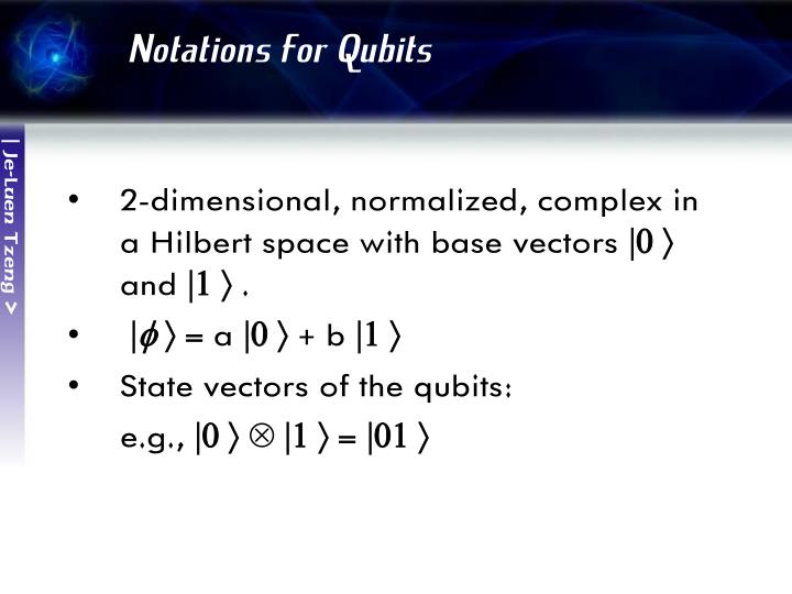 Notations for Qubits