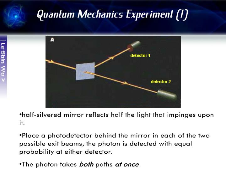 Quantum Mechanics Experiment (1)