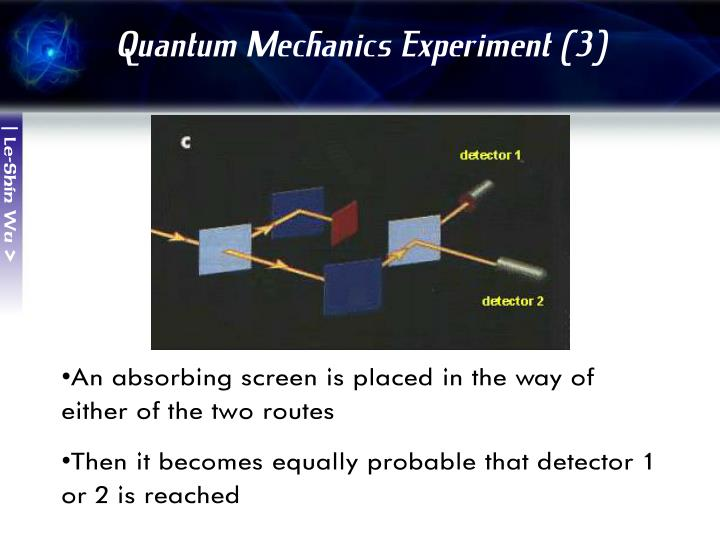 Quantum Mechanics Experiment (3)