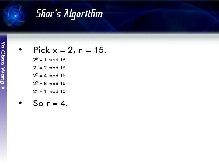 Shor's Algorithm