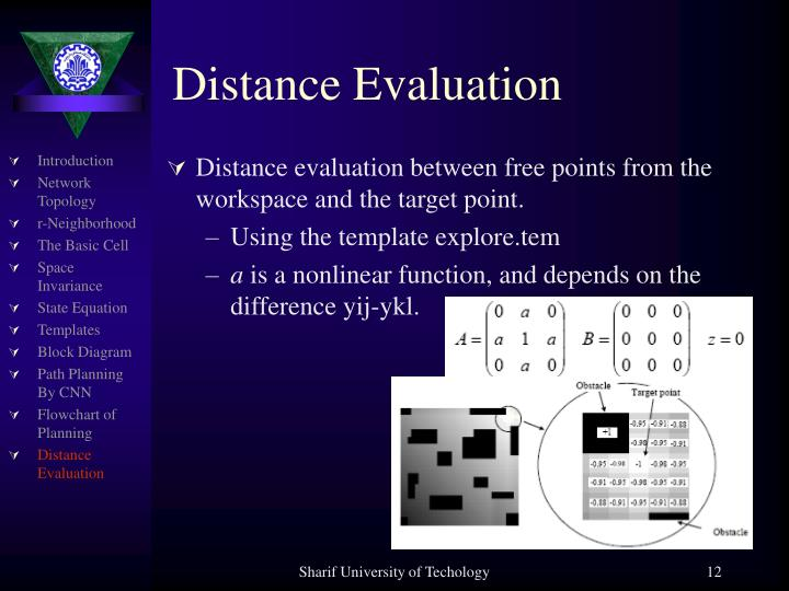 Distance Evaluation