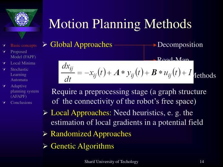 Motion Planning Methods