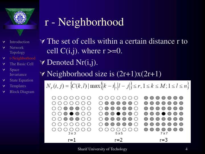 r - Neighborhood