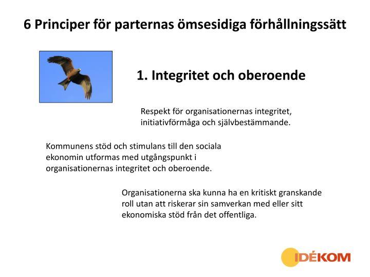 6 Principer för parternas ömsesidiga förhållningssätt