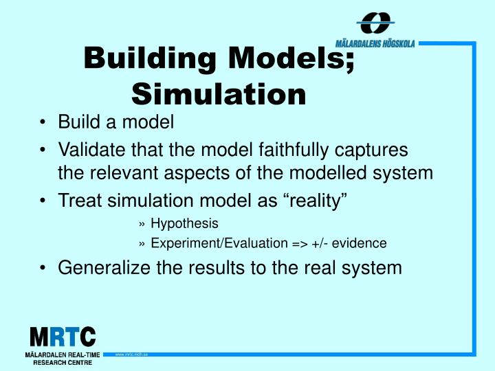 Building Models; Simulation