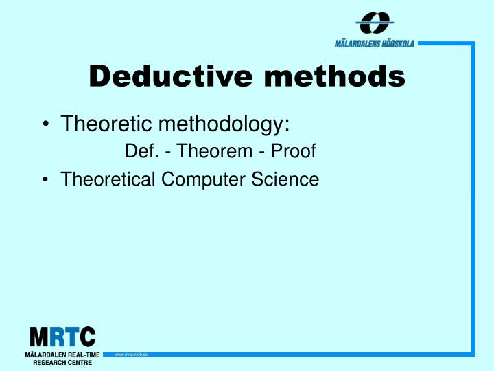 Deductive methods