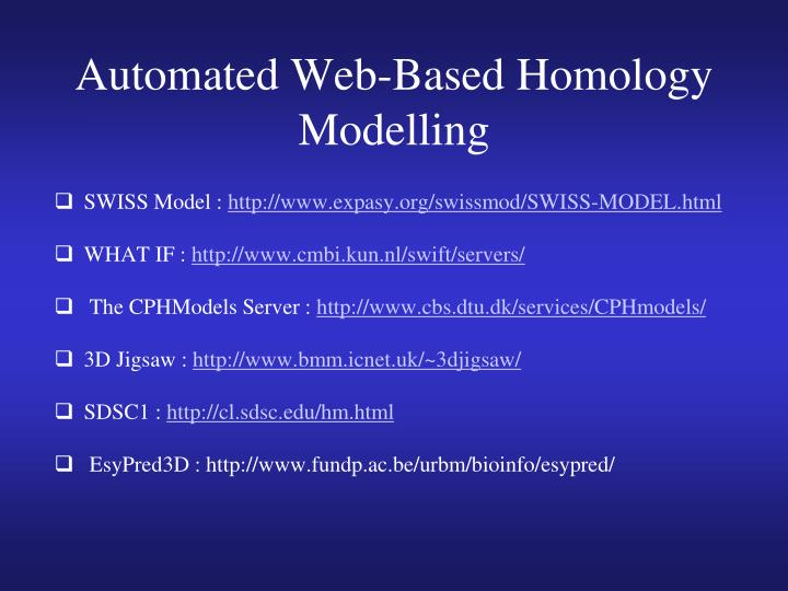 Automated Web-Based Homology Modelling