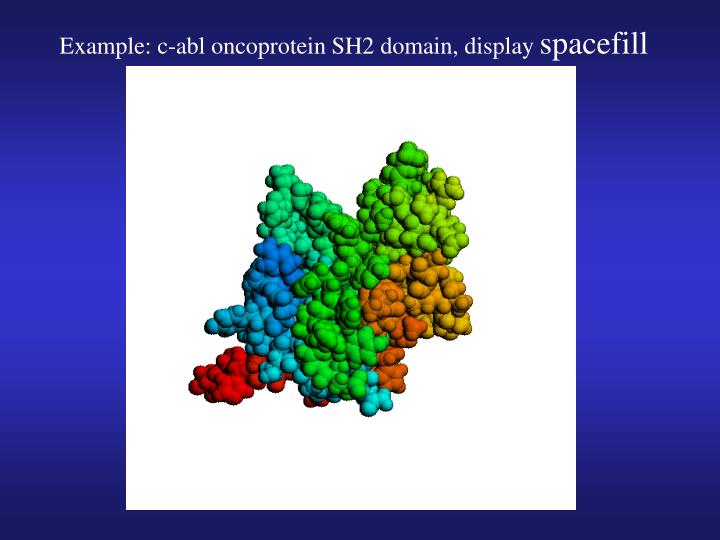 Example: c-abl oncoprotein SH2 domain, display