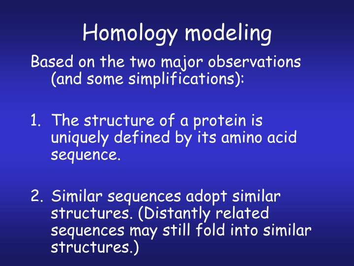 Homology modeling