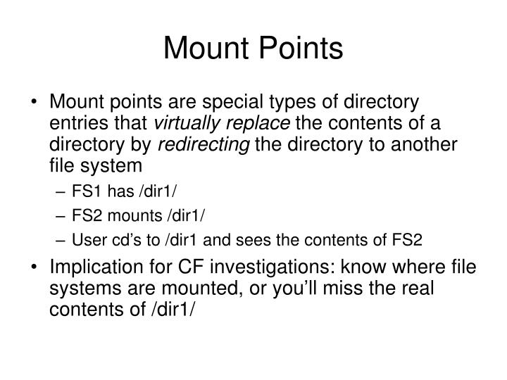 Mount Points