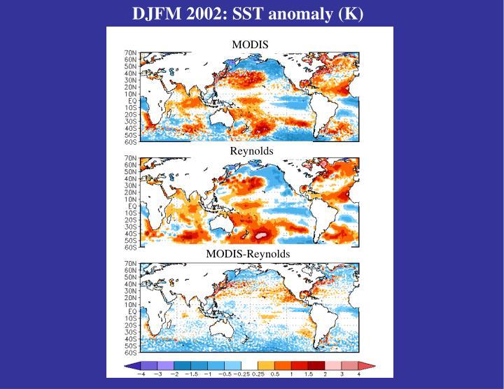 DJFM 2002: SST anomaly (K)