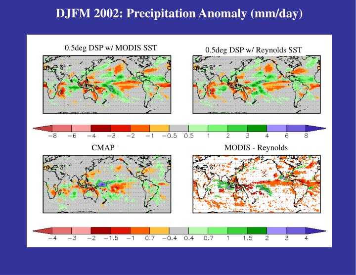 DJFM 2002: Precipitation Anomaly (mm/day)