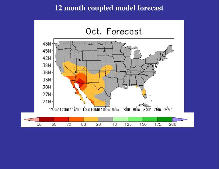 12 month coupled model forecast