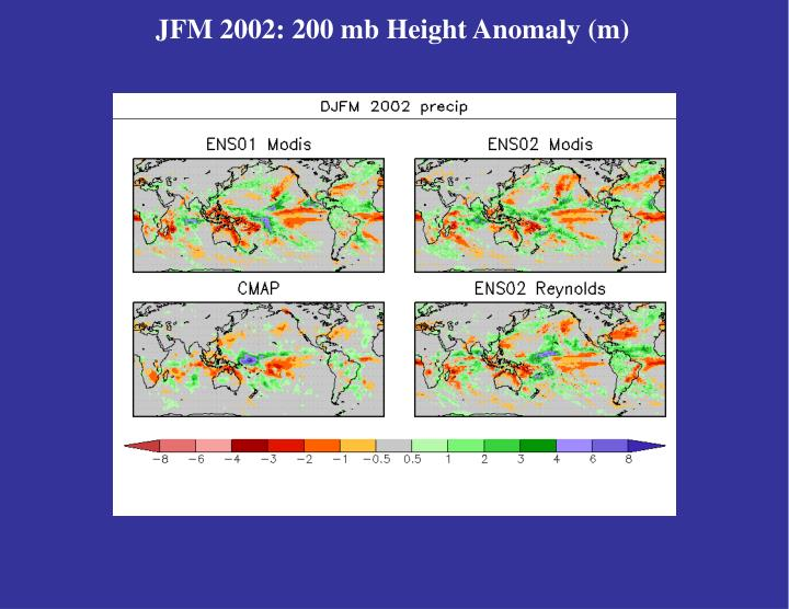 JFM 2002: 200 mb Height Anomaly (m)