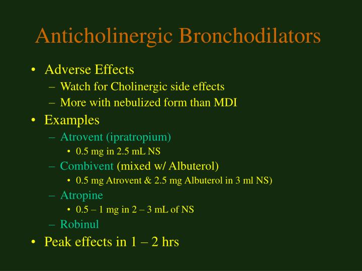 Anticholinergic Bronchodilators