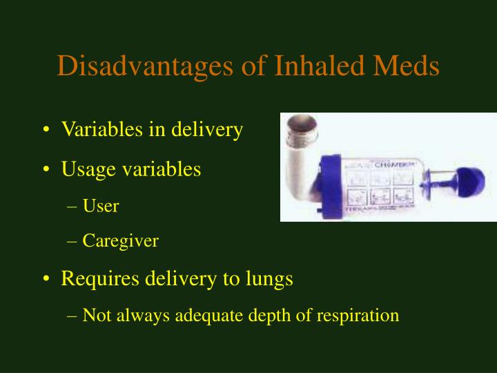 Disadvantages of Inhaled Meds