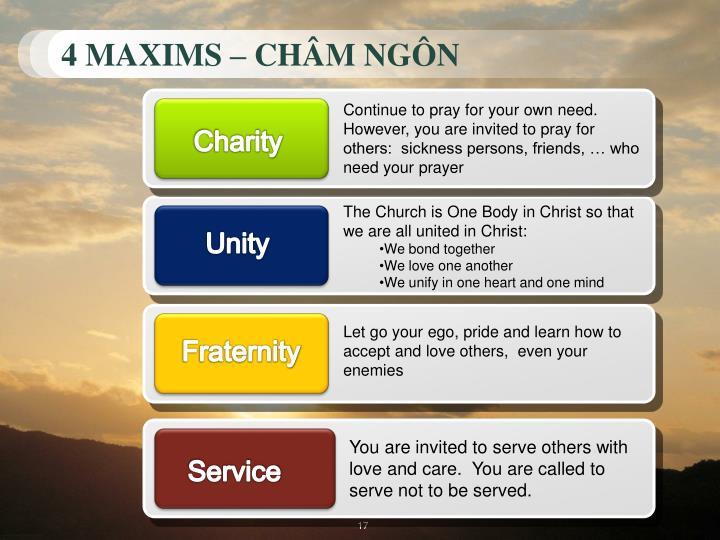 4 MAXIMS – CHÂM NGÔN