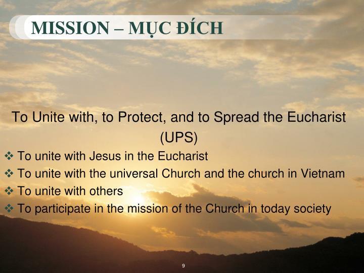 MISSION – MỤC ĐÍCH