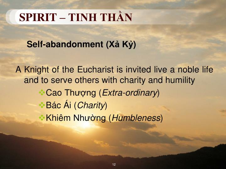 SPIRIT – TINH THẦN