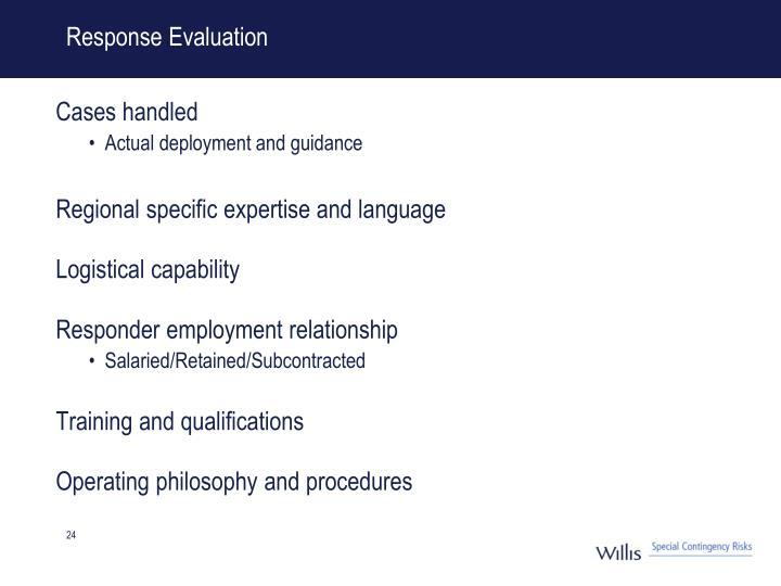 Response Evaluation
