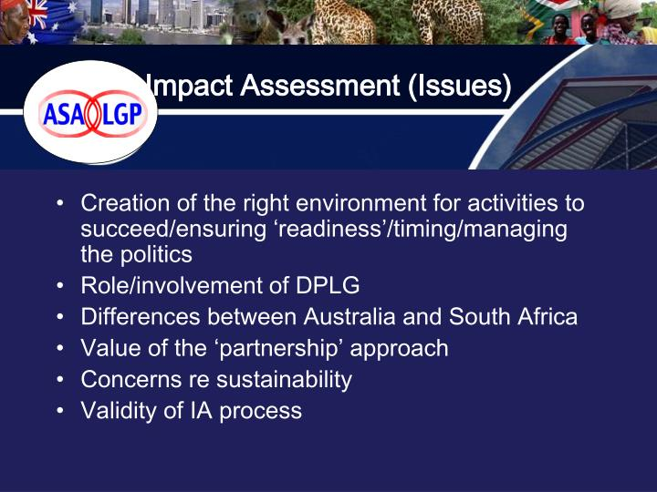 Impact Assessment (Issues)