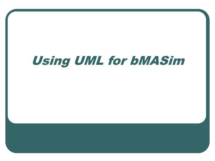 Using UML for bMASim