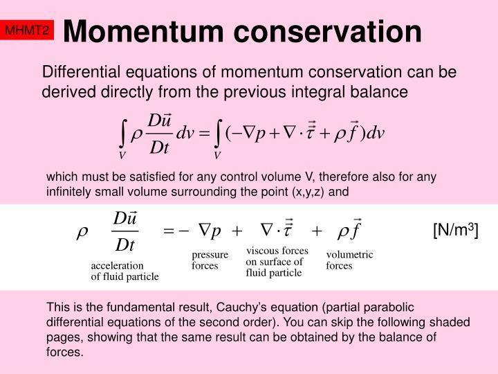 Momentum conservation