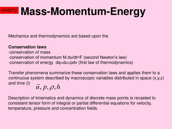 Mass-Momentum-Energy