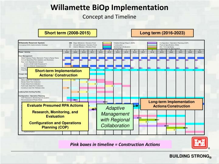 Willamette BiOp Implementation