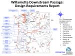 willamette downstream passage design requirements report