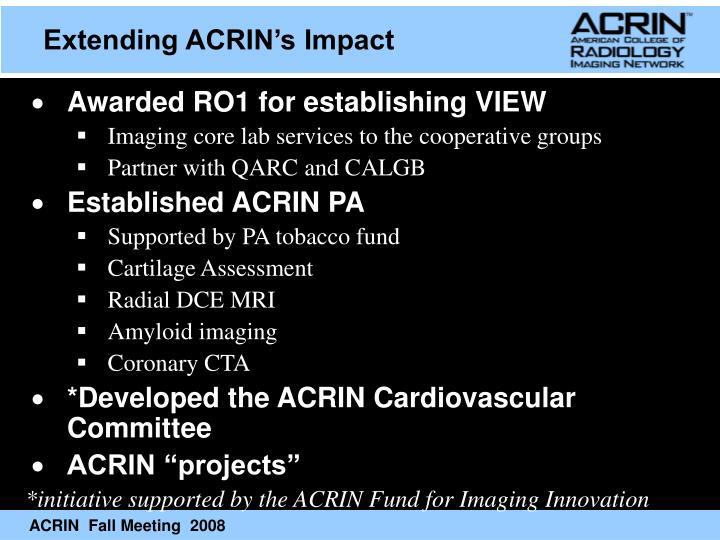 Extending ACRIN's Impact