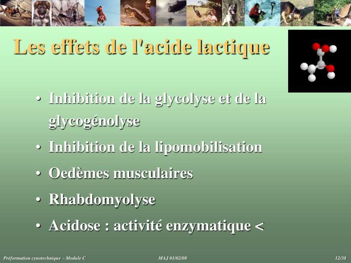 Les effets de l'acide lactique