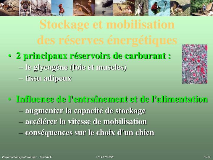Stockage et mobilisation