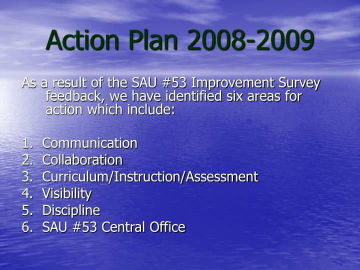 Action Plan 2008-2009