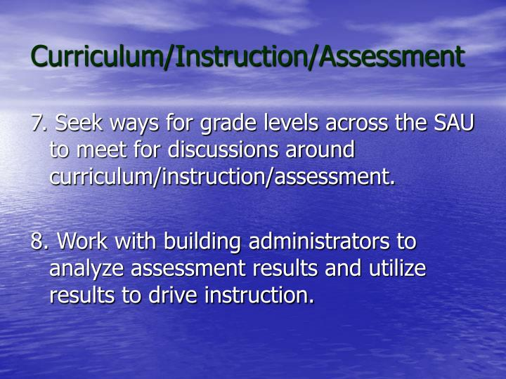 Curriculum/Instruction/Assessment