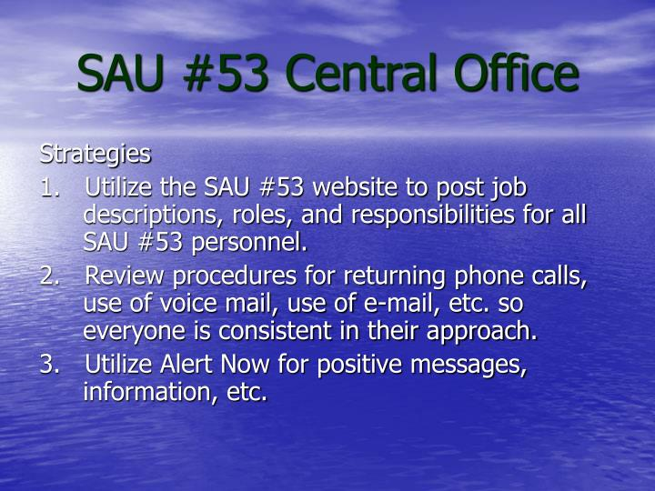 SAU #53 Central Office