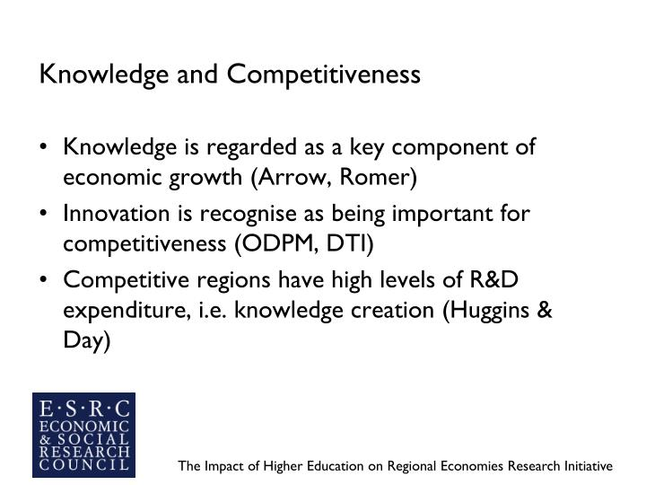 Knowledge and competitiveness