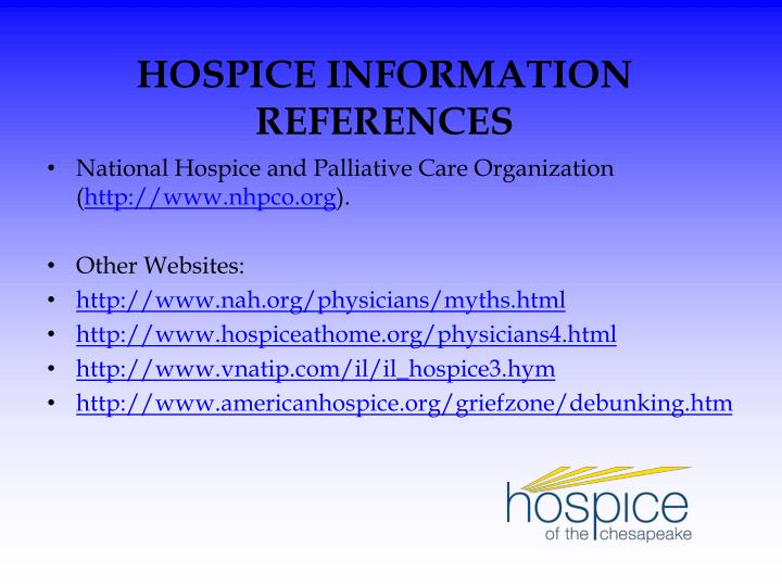 National Hospice and Palliative Care Organization (