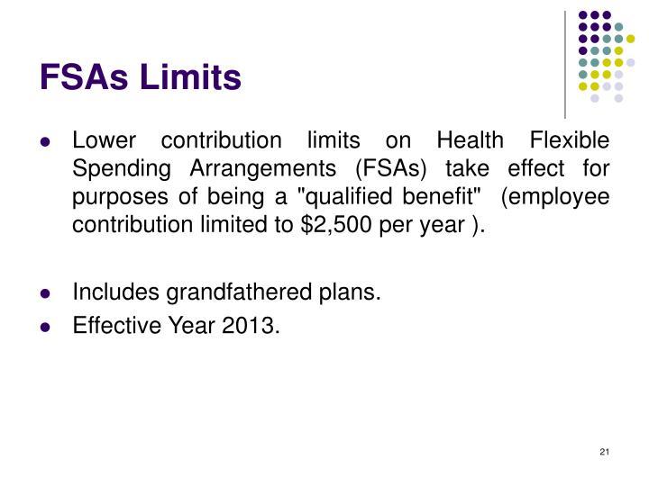 FSAs Limits