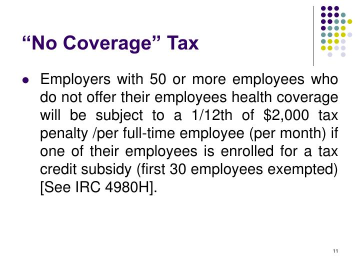"""No Coverage"" Tax"