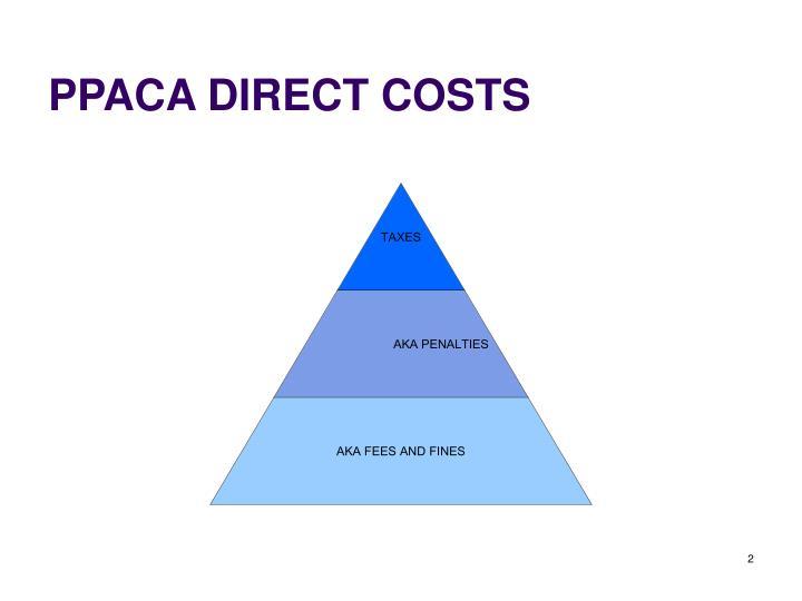 PPACA DIRECT COSTS