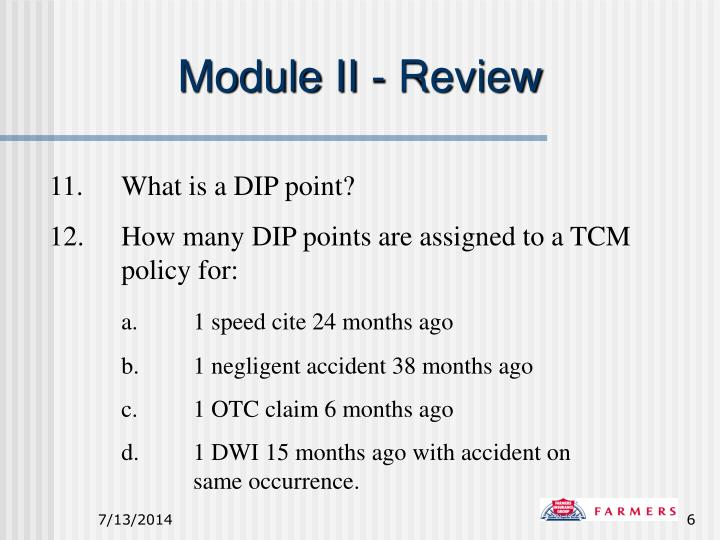 Module II - Review
