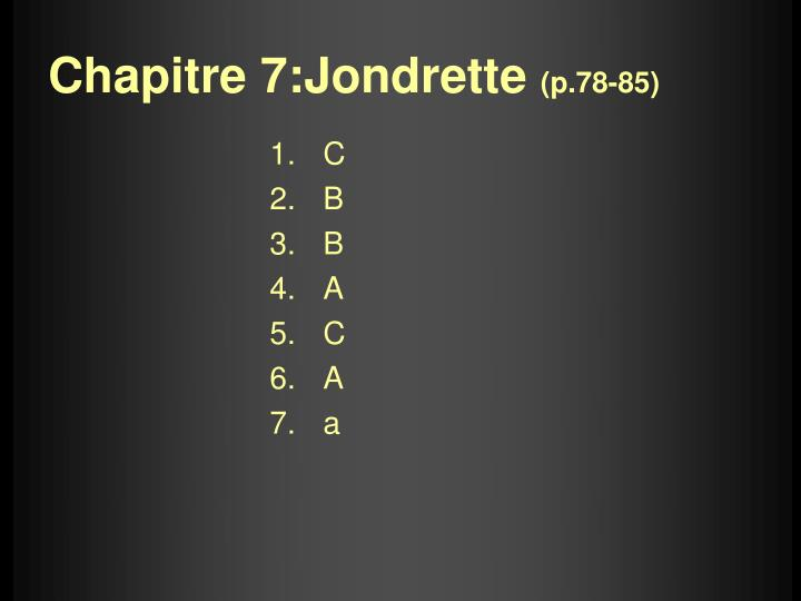 Chapitre 7:Jondrette