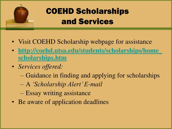 COEHD Scholarships