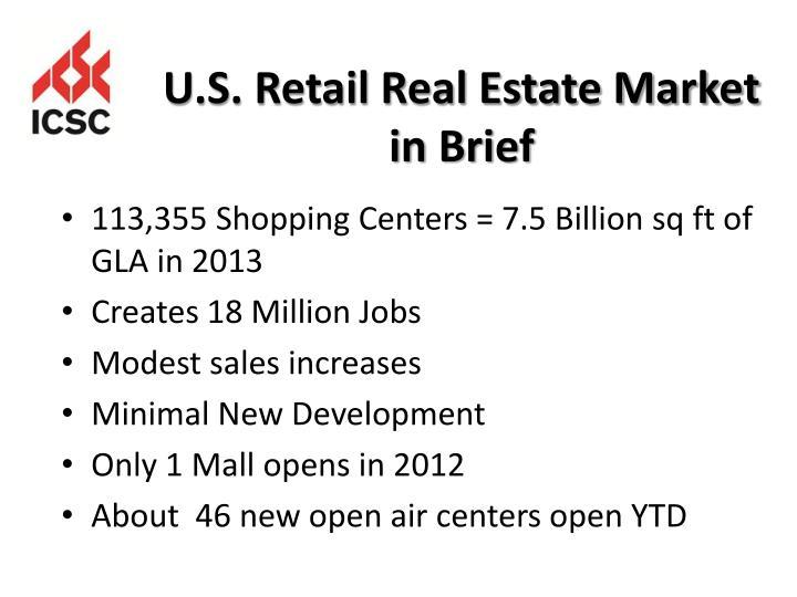 U.S. Retail Real Estate Market