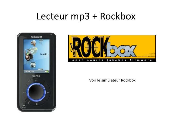 Lecteur mp3 + Rockbox