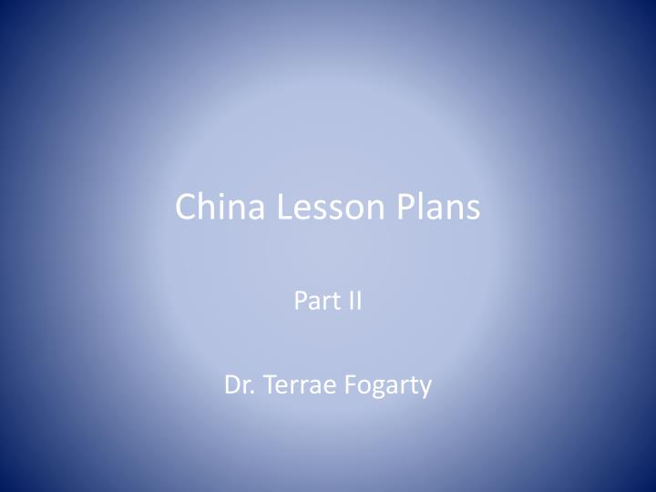 China lesson plans