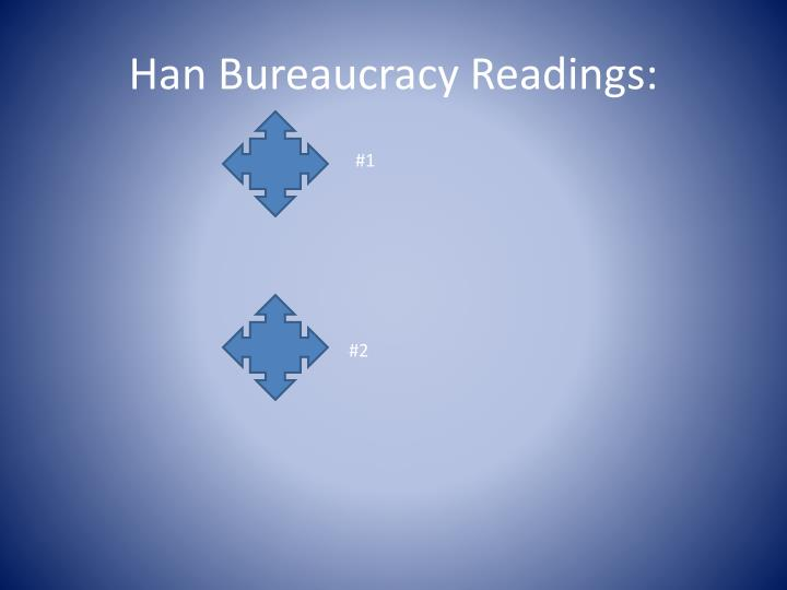 Han Bureaucracy Readings: