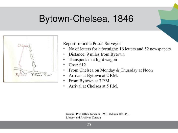 Bytown-Chelsea, 1846